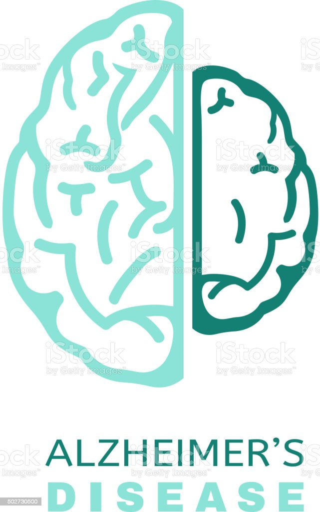 Alzheimers Icon vector vector art illustration