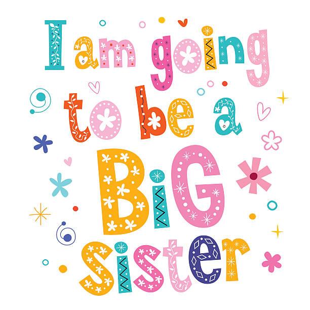 ilustrações, clipart, desenhos animados e ícones de vou ser um grande parceiro - irmã