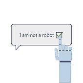 I am not a robot and robot arm