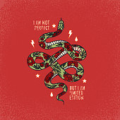 Cute snake hanging on a liana. High Resolution JPG,CS5 AI and Illustrator EPS 8 included. Each element is named,grouped and layered separately.