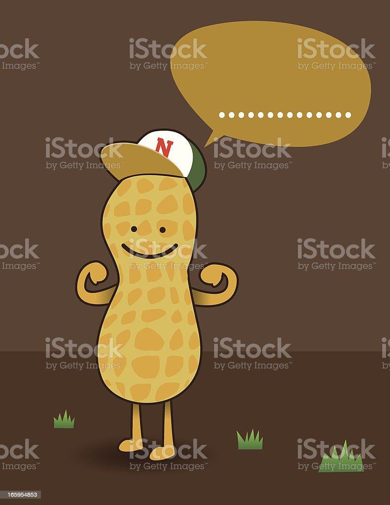 I am Nut vector art illustration