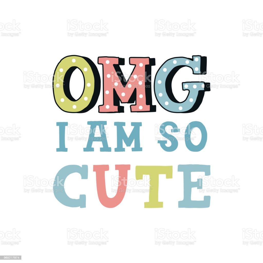 I am so cute - unique hand drawn nursery poster with handdrawn lettering in scandinavian style. Vector illustration i am so cute unique hand drawn nursery poster with handdrawn lettering in scandinavian style vector illustration - stockowe grafiki wektorowe i więcej obrazów bez ludzi royalty-free