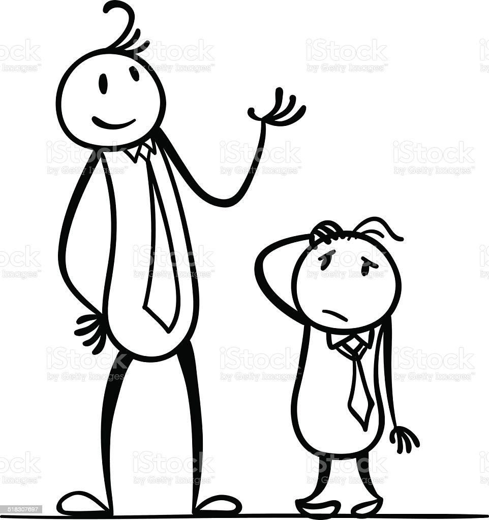 I am taller than you vector art illustration