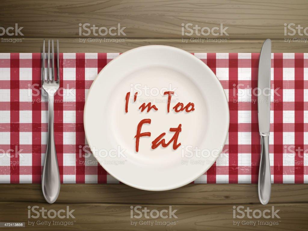 bin zu fett