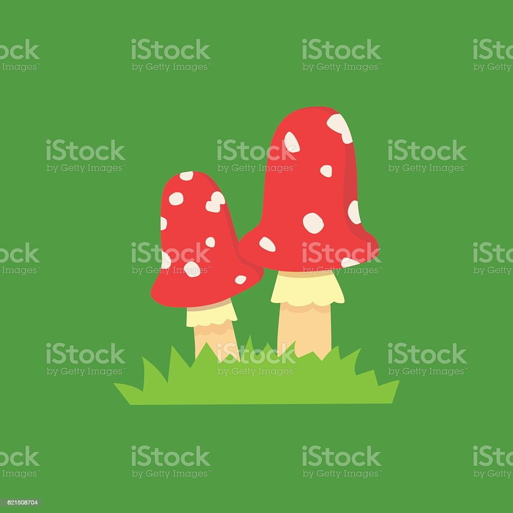 Amanite champignons vénéneux, isolé sur fond blanc, illustration amanite champignons vénéneux isolé sur fond blanc illustration – cliparts vectoriels et plus d'images de carré - composition libre de droits