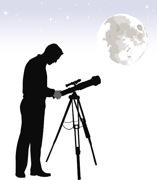 amateurscientist - astronomy telescope stock illustrations