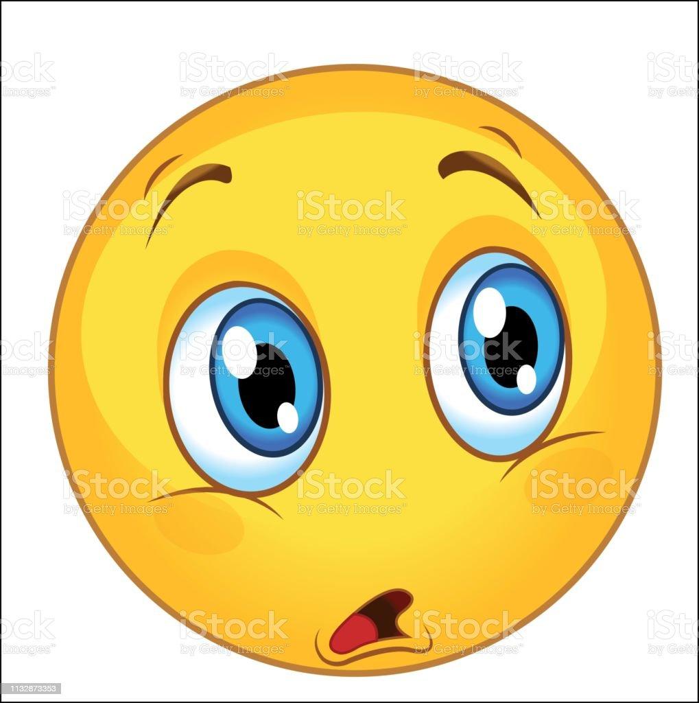 Emoticone Stupefait Cute Vector Illustration Emoji Pour Imprimer Vecteurs Libres De Droits Et Plus D Images Vectorielles De Avatar Istock
