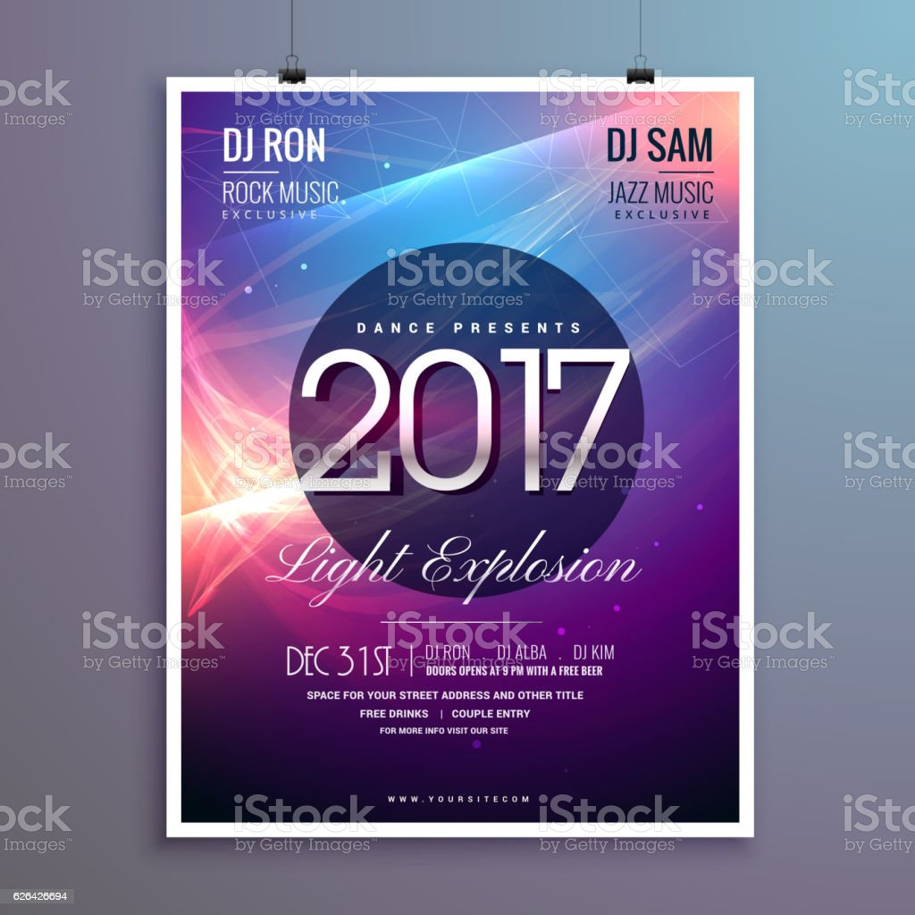 amazing 2017 happy new year party invitation template with abstr royalty free amazing 2017 happy