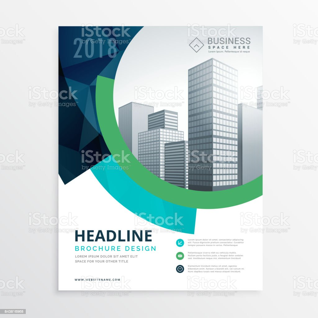 amazing blue brochure flyer template design for presentation royalty free amazing blue brochure flyer template