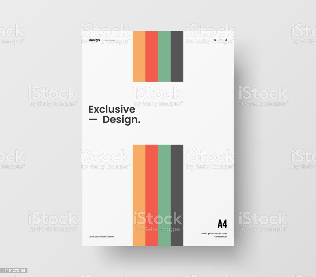 Amazing Business Presentation Vector A4 Vertical Orientation