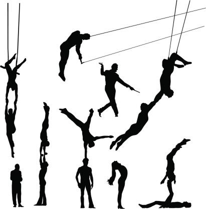 Amazing circus people - vector