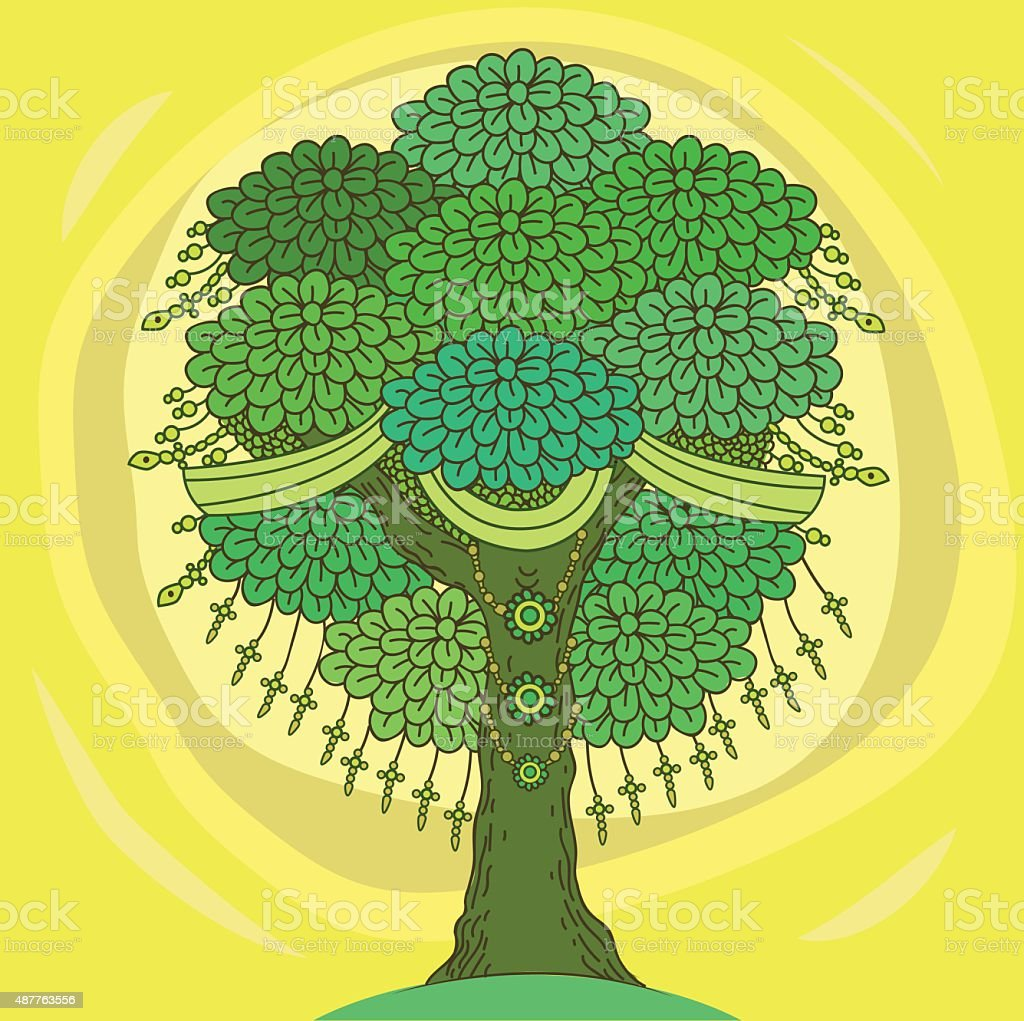 Amazing Color Tree Of Life In The Indian Style Stock Vector Art ...