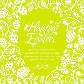Creativity Easter egg plant copy space background.