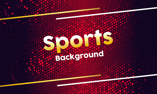 Amazing Sports banner design with dotted pattern background