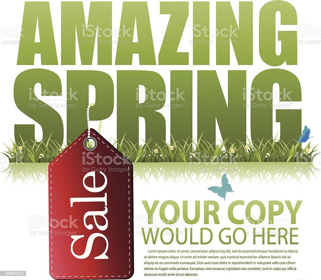 Amazing spring sale marketing template vector art illustration
