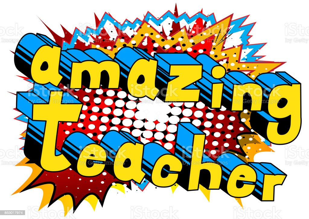 Amazing Teacher vector art illustration