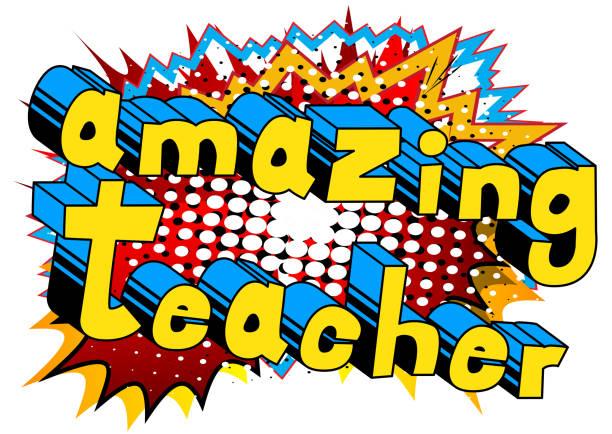 Amazing Teacher vector art illustration