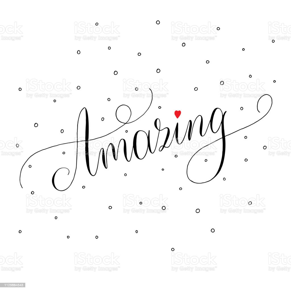 Amazing text calligraphy with decor elements vector
