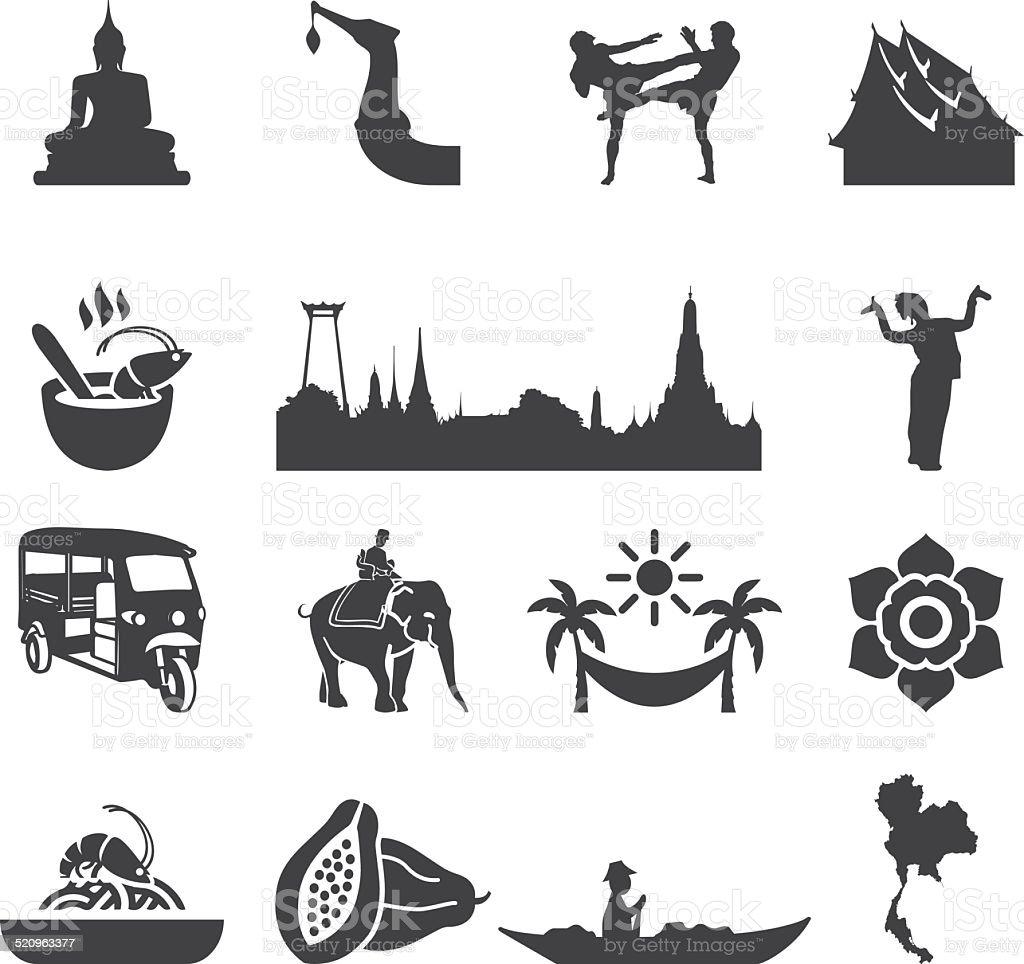Amazing Thailand Silhouette icons   EPS10
