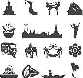 Amazing Thailand Silhouette icons | EPS10