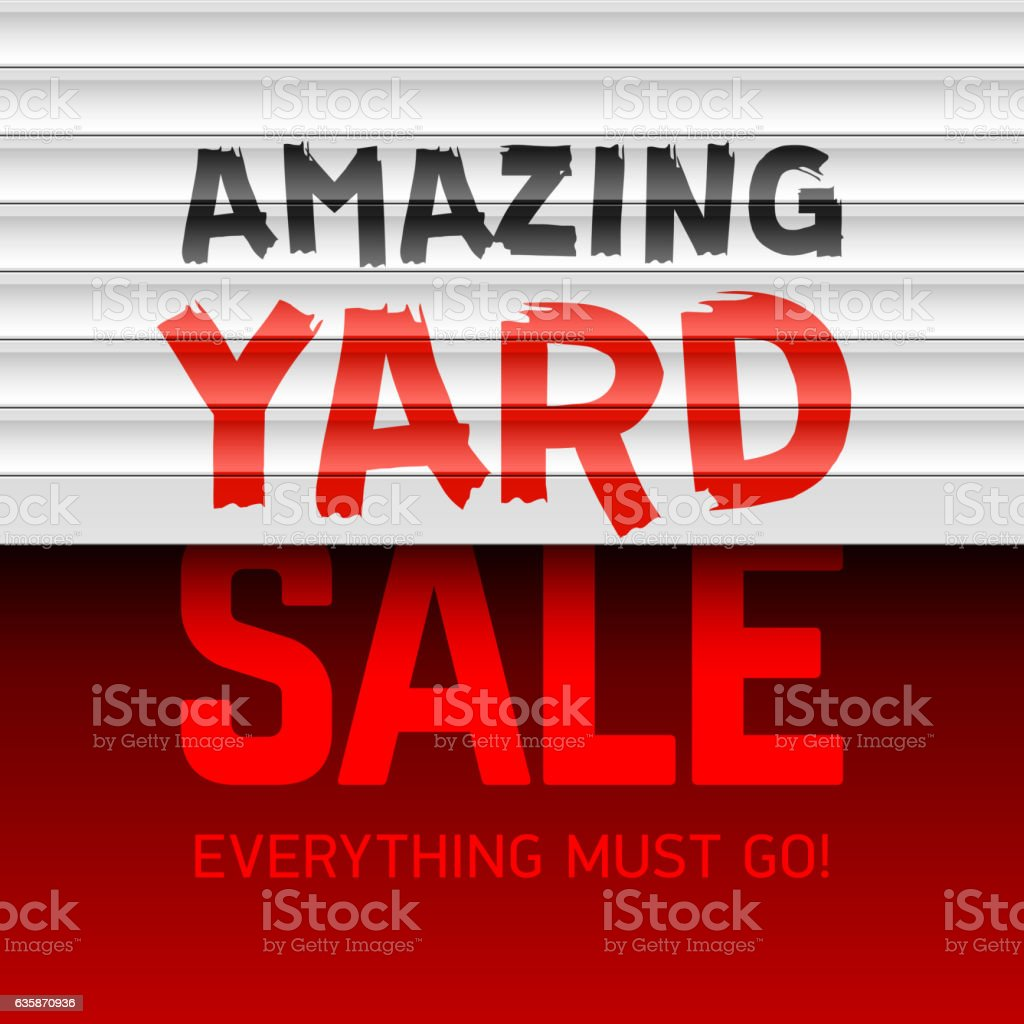 Amazing Yard Sale poster - Illustration vectorielle