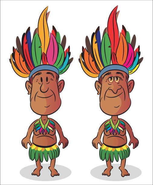 ilustrações, clipart, desenhos animados e ícones de amazon homem - manaus