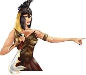 Medieval female warrior.