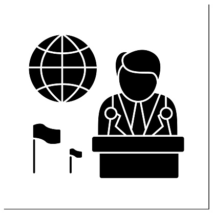 Ambassador glyph icon