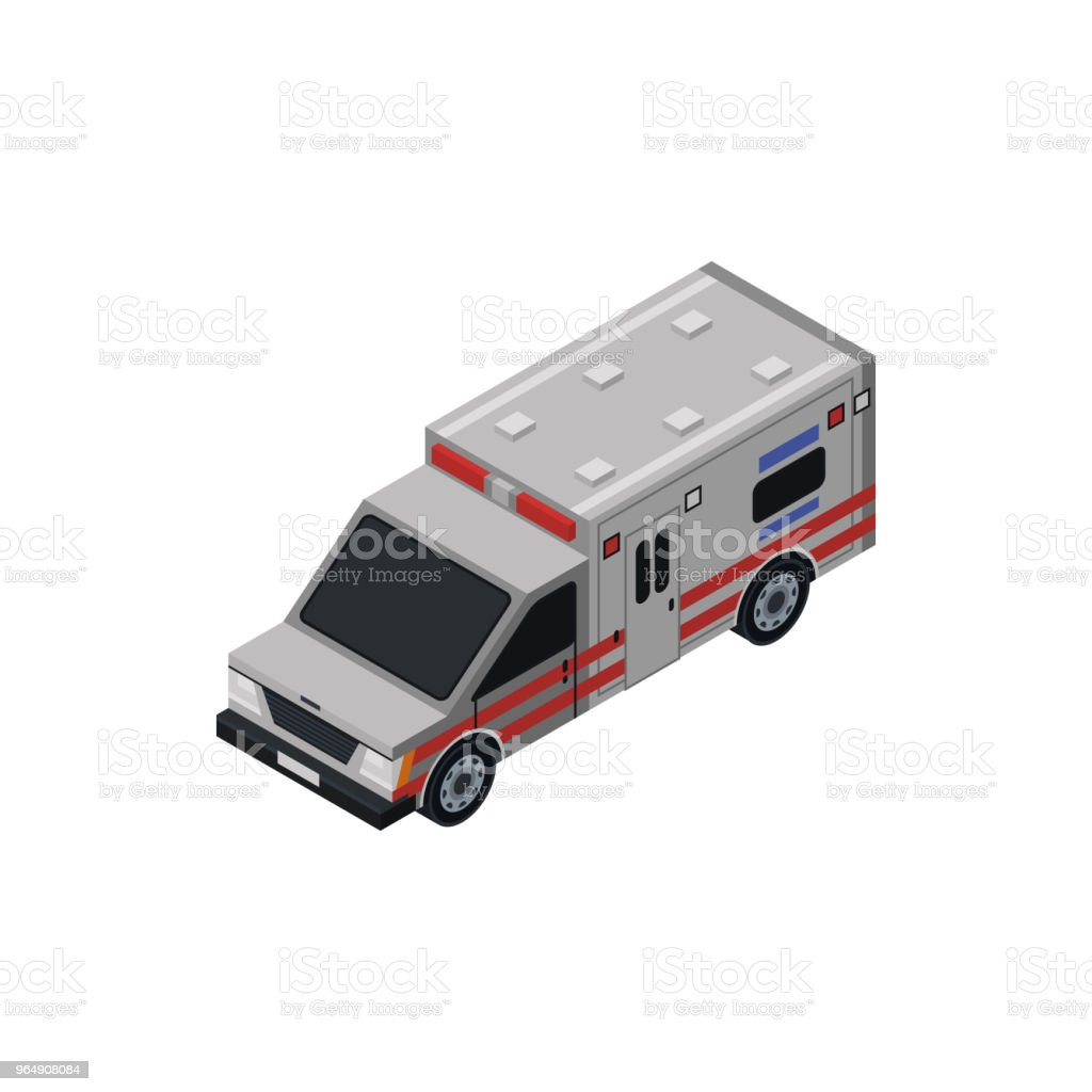 Ambulance car isometric 3D element royalty-free ambulance car isometric 3d element stock vector art & more images of accidents and disasters