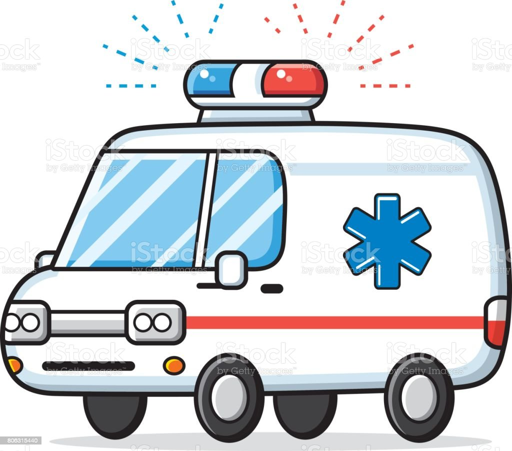 Ambulance car lights vector isolated.