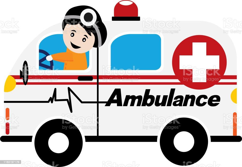 Ambulance car, medical service. Hospital transport. Emergency medical...