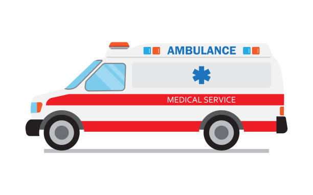 Ambulance car, medical service vector art illustration