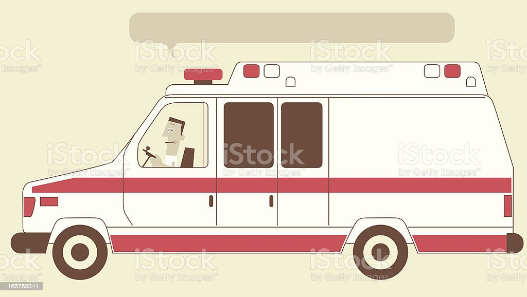 Ambulance Car royalty-free stock vector art