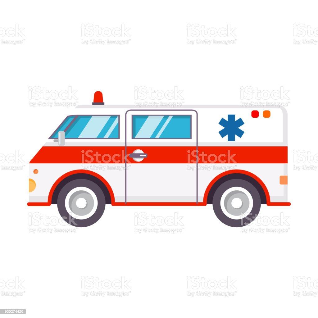 Ambulance car.Hospital transport medical care clinic.Urgency and emergency service vehicle.