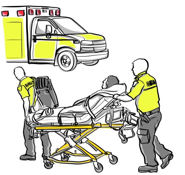 Ambulanz-Crash-Opfer – Vektorgrafik