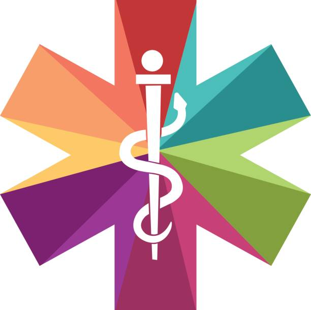 Ambulance cross A colored ambulance cross for child and health male nurse stock illustrations