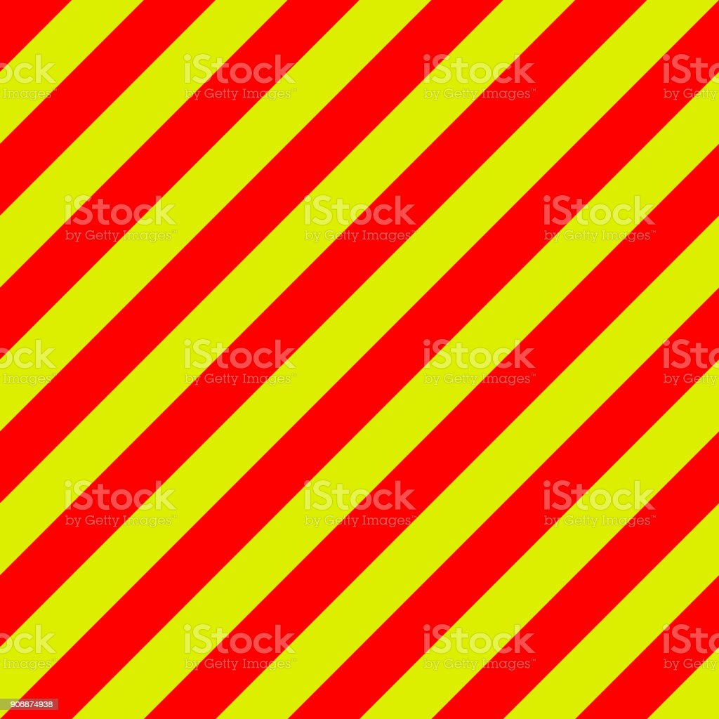 ambulance emergency background yellow and red stripes diagonally, ambulance emergency diagonal stripes, a warning to traffic safety vector art illustration