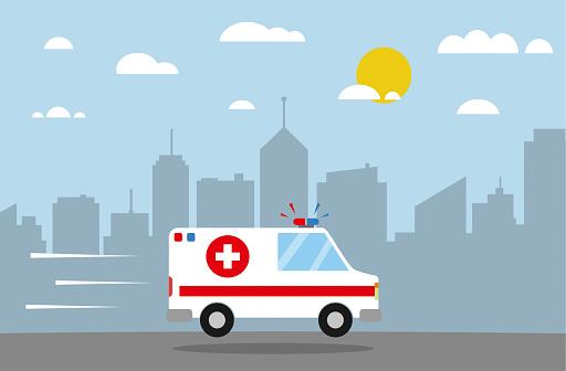 Ambulance flat design