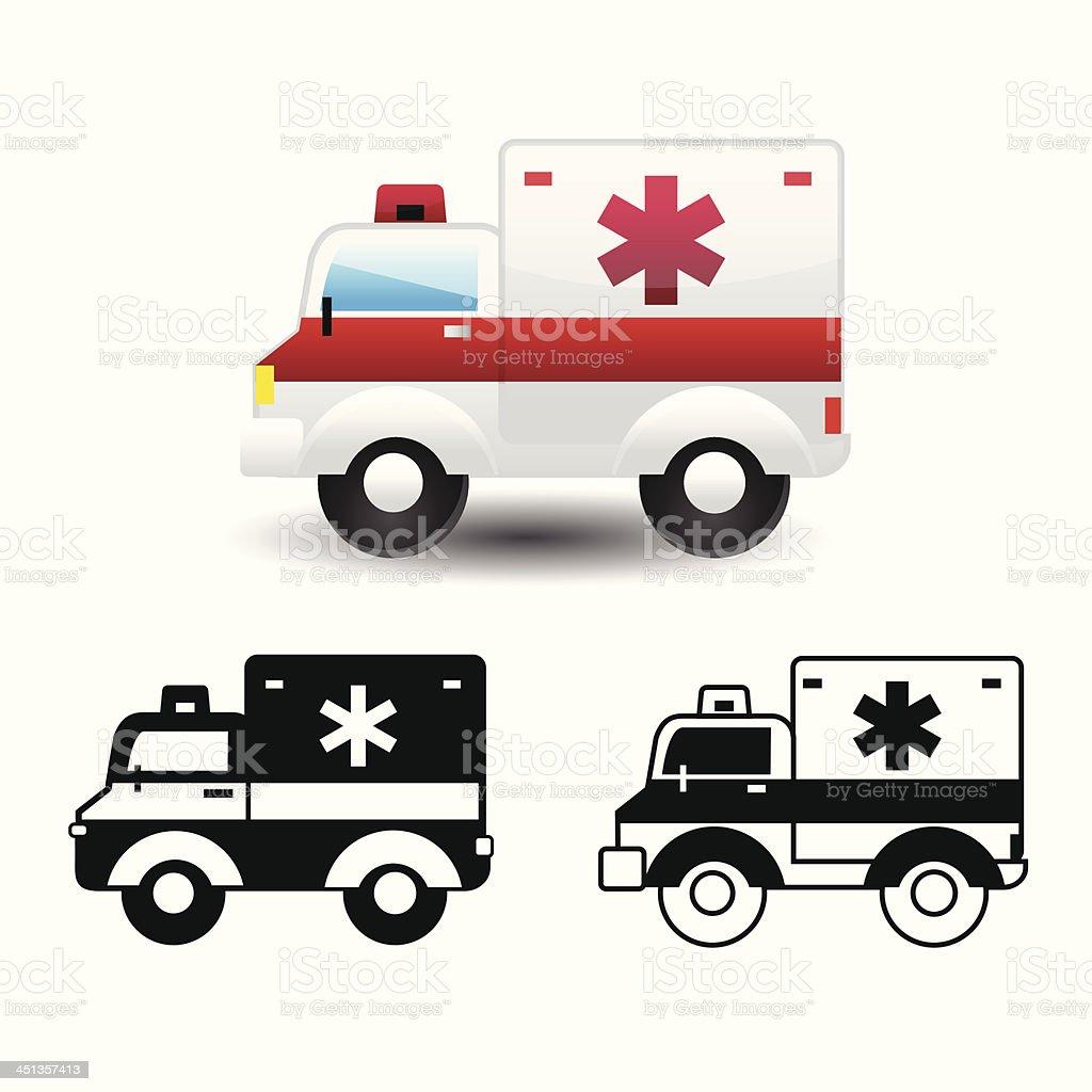ambulance icon royalty-free stock vector art