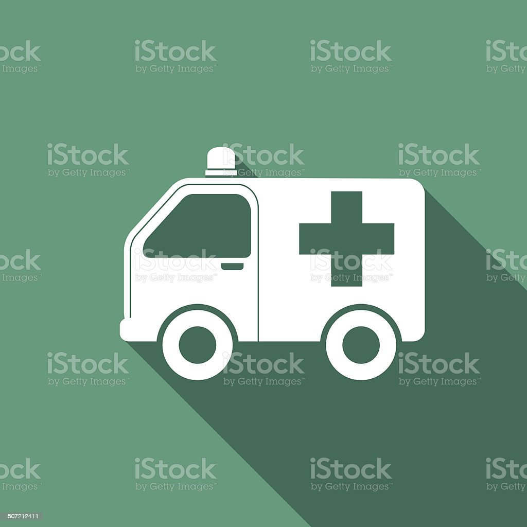 ambulance icon vector art illustration