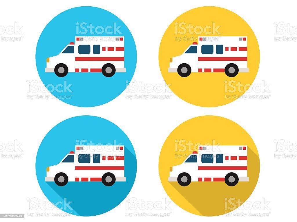 Ambulance Icons vector art illustration