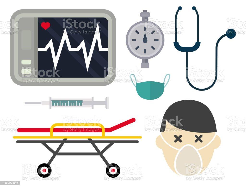 Krankenwagen Symbole Vektor Medizin Gesundheit Notfall Dringend ... | {Sanitäter symbol 95}