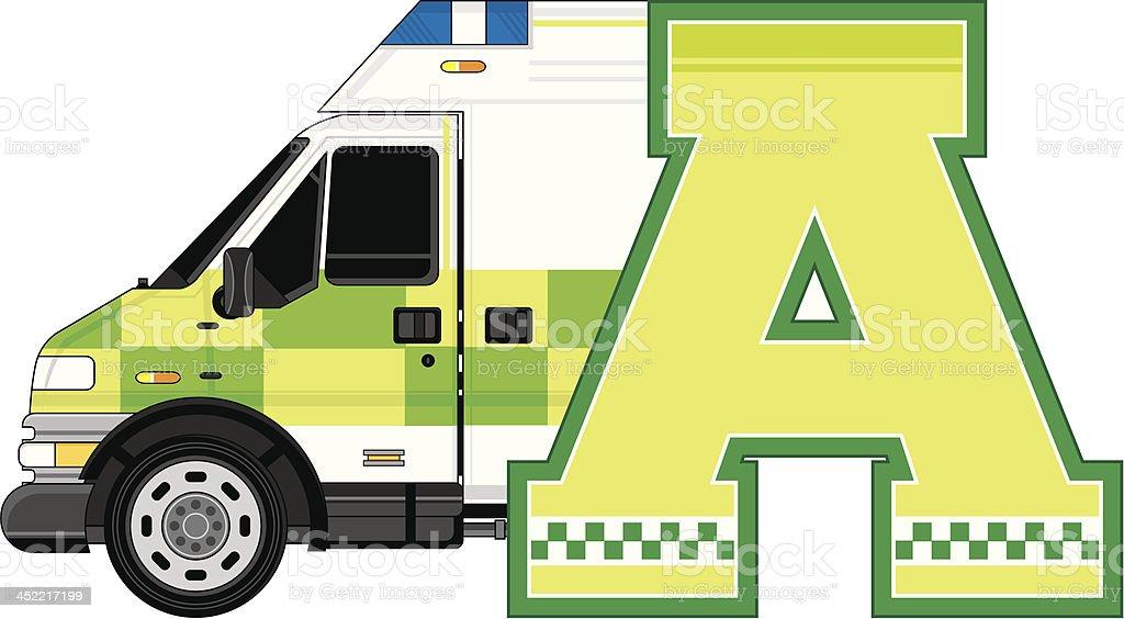 Ambulance Learning Letter A royalty-free ambulance learning letter a stock vector art & more images of ambulance