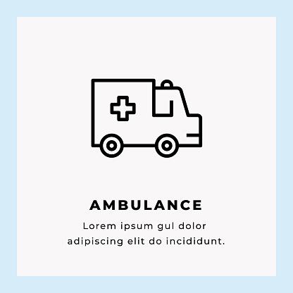 Ambulance Line Icon Stock Illustration