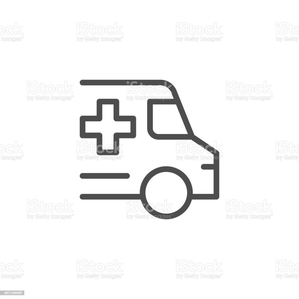 Linha ícone de Ambulância - Vetor de Acidentes e desastres royalty-free