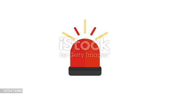 Ambulance, Police Siren flat icon
