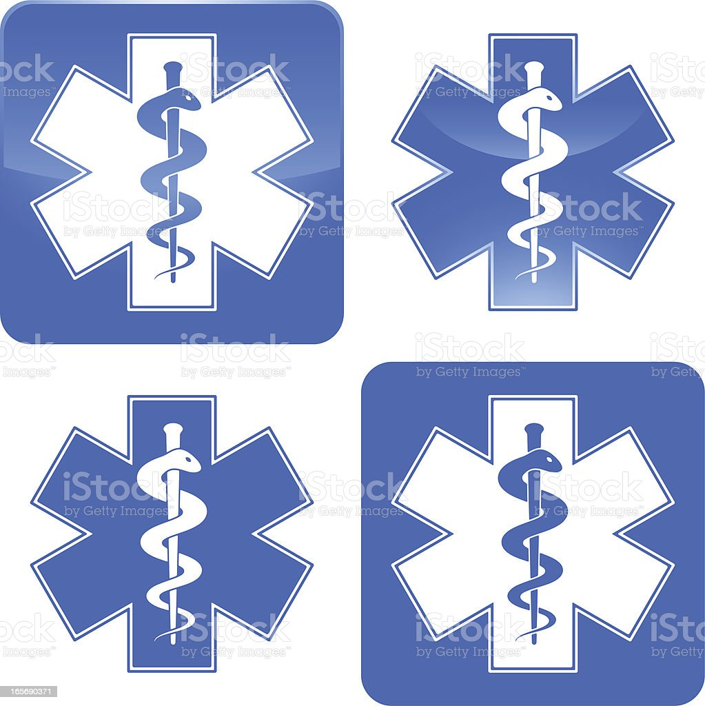 Ambulance symbol vector art illustration