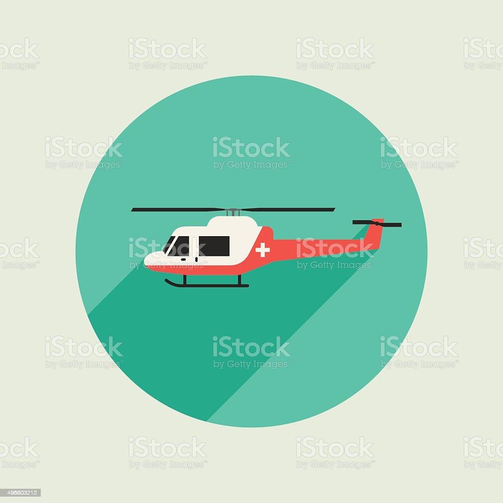 Ambulance vector helicopter vector art illustration