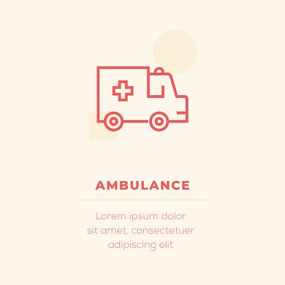 Ambulance Vector Icon, Stock Illustration