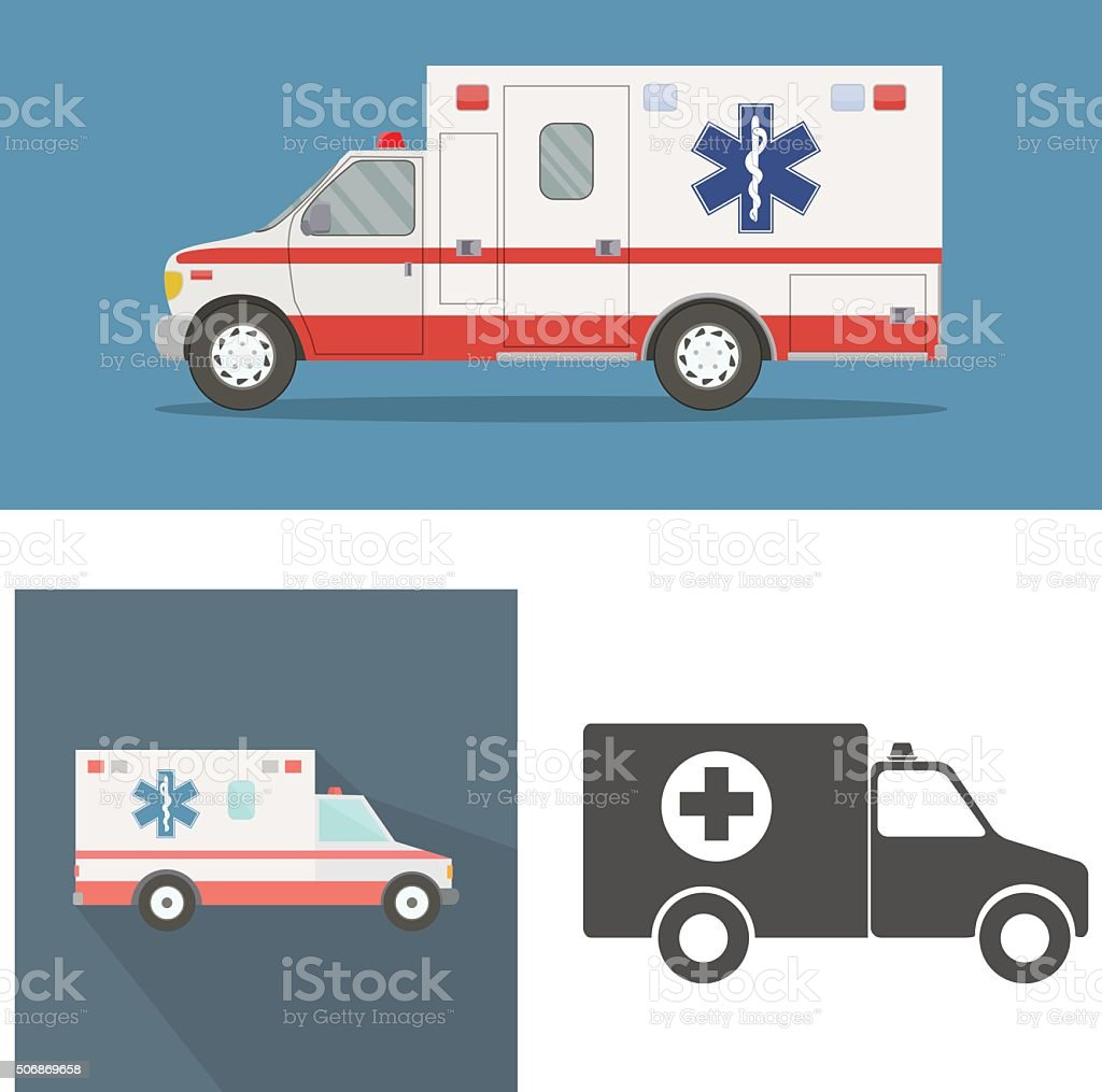 Ambulance vector art illustration